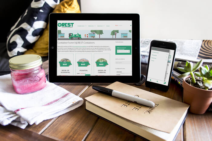 Integratie nieuwe webshop Rest Containers & Afvalverwerking