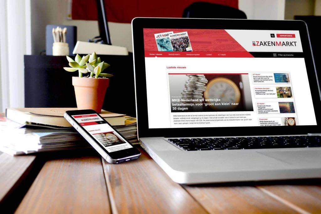 Nieuwe website voor De ZakenMarkt
